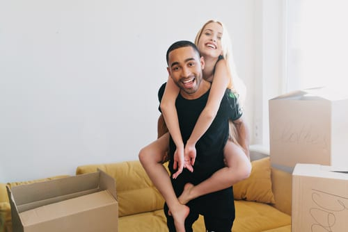 HR Staging couples buying their first home
