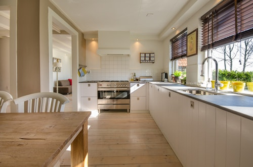 kitchen that is staged