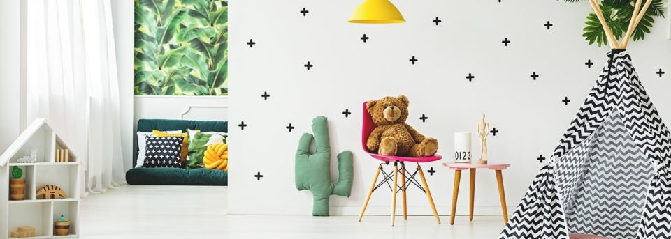 stage a child's room