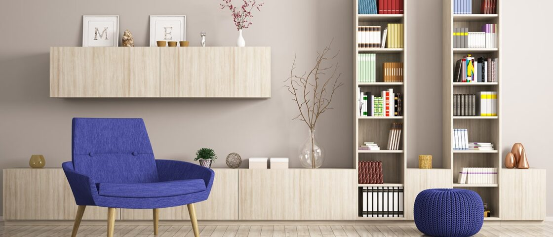 How To Stage Bookshelves and Built-Ins